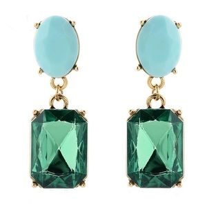 Kate Spade Gold & Crystal Dangling Drop Earrings